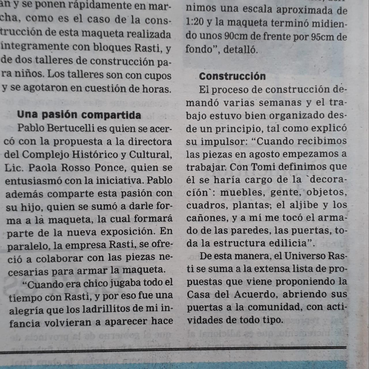Rasti en diario El Norte de San Nicolás